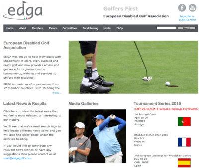 European Disabled Golf Association website