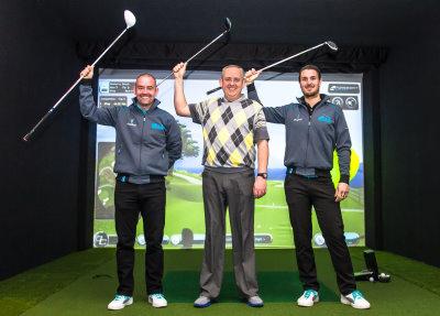 iPlayGolfUK PGA Coaches (from Left) Greg Tilbury, Danny Poulter, Matt Straughan