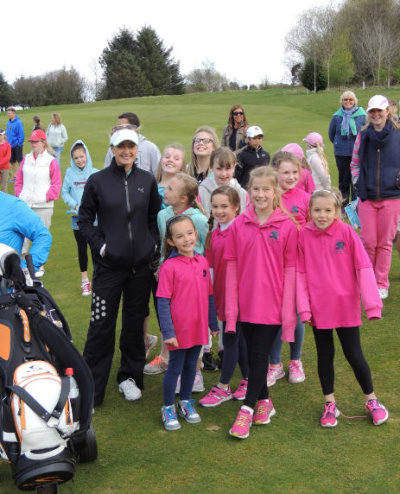 Amy Boulden with fans