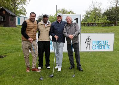 (from left) Mark Bright, Luther Blissett, Ray Clemence and Bill Elliott (courtesy European Tour)