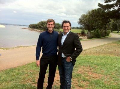 Emilio Dellanzo and Anthony Ritossa on site in Croatia