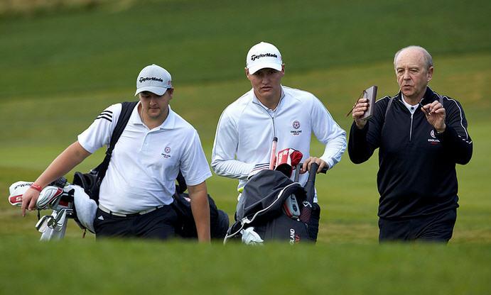 Adam Chapman, Nick Marsh and David Ridley (coach)