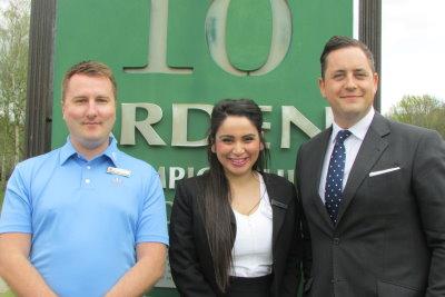 From left: Fraser Liston, Petrina Johnson and Matt Cooper
