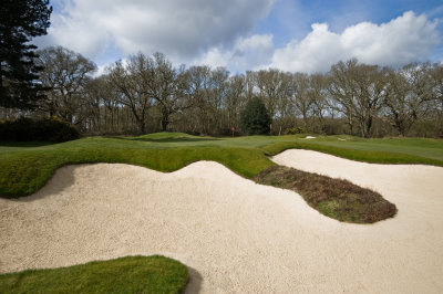 Ipswich Golf Club's new look bunkers (photo Moira Ellice)