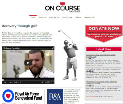 On Course Foundation web page