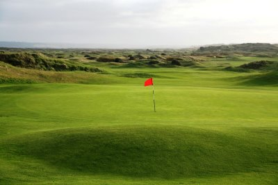 Saunton's East Course, 18th green and beyond