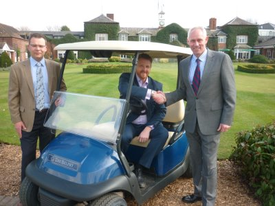 (from left) Philip Rosier, Director of Caddy Cars; Ian Knox, Director of Golf at The Belfry; Kevin Hart, Sales Director Golf, Club Car - Europe, Middle East and Africa