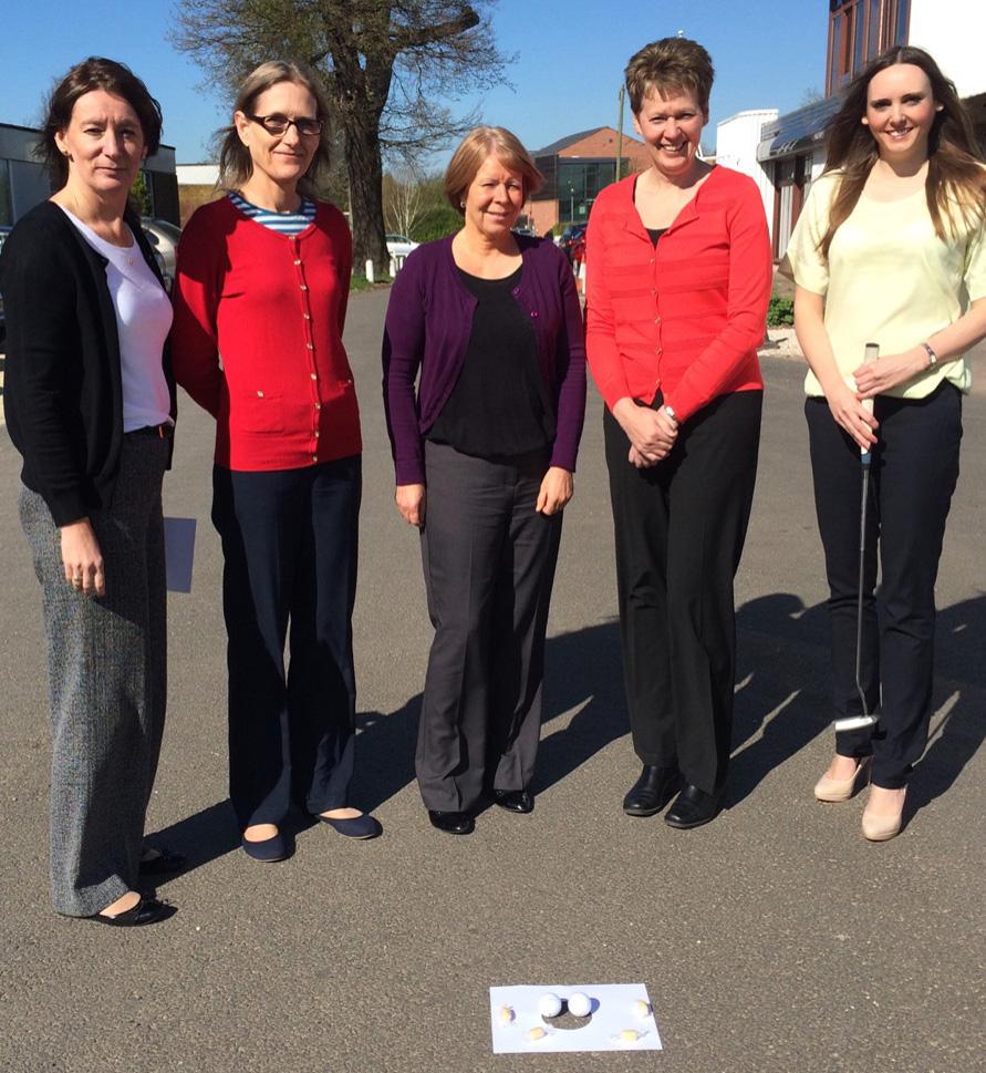 From left: Deborah Holt, Rose Hardy, Janet Stranks, Carol Scoggins and Ciara Morgan