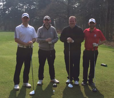 BGIA Golf Day winning team from TaylorMade: players Gavin Frost, Roy Parkes, Chris Gibbons and Luis Rodriguez Blasco