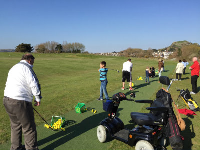 Participants enjoying the Conwy disability taster day