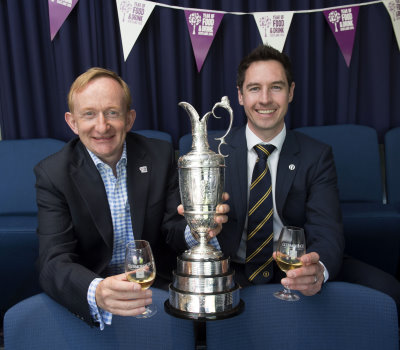 Visit Scotland Chairman Dr Mike Cantlay OBE and Michael Wells, Director – Championship Staging of The R&A (credit The R&A)