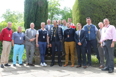 The 2015 Business Club attendees at the European Tour Headquarters at The Wentworth Club