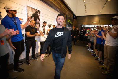 Rory McIlroy at Niketown London