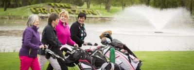 Wendy Bradshaw, Sue Stretton, Alison Tennant and Lynn Gray (courtesy of The PGA)