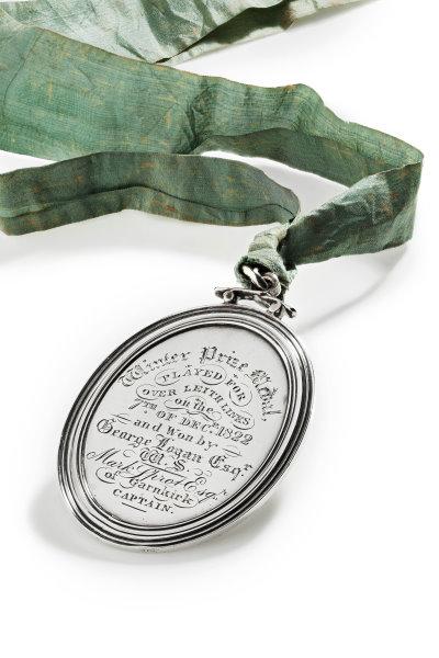 1822 Thistle Golf Club silver prize medal won by George Logan Esq.