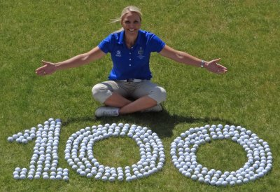 Carin Koch, European Team Captain, counts on abacus for The Solheim Cup