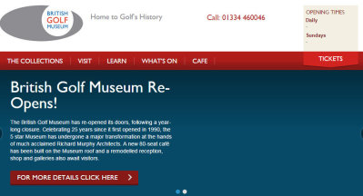 British Golf Museum website