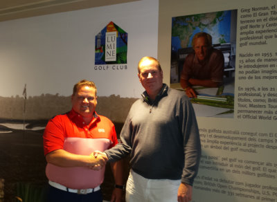 Calle Carlsson with Frank Kirsten of PGA Holland