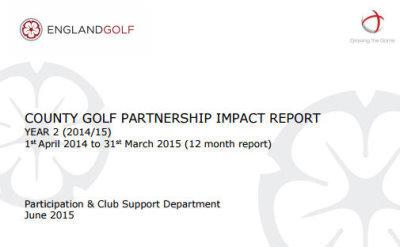 England Golf County Golf Partnership Impact Report 2014.15.