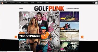 Golf Punk website home page