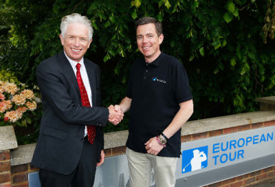 Mark Lichtenhein, Head of Television, Digital Media & Technology at The European Tour (left) and Chris Ross, SVP Global Channels and UK Managing Director at Barracuda