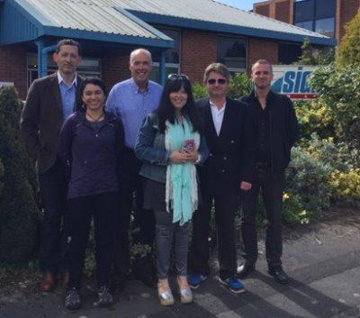 from left) Darrell Thomas, Faber Aureus; Catalina Sanchez, Spanish agent; Richard Jewell, Sigma Golf; Carla Cabril, Portugese agent; Gaele Tapper, Faber Aureus; Henrik Berezin, Swedish agent