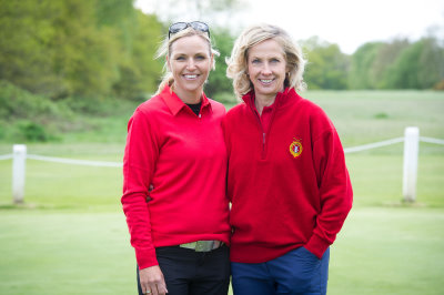 (from left) Carin Koch, 2015 European Solheim Cup Captain and Joanna Croker, Ladies Vice Captain at Wimbledon Common Golf Club