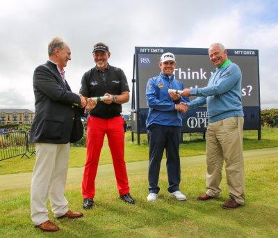 Darren Clark and Louis Oosthuizen receive Freedom of The Links