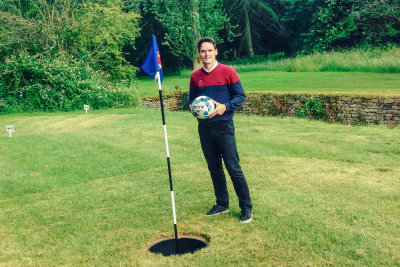 Jamie Cook, assistant pro at Heythrop Park Resort, on the new FootGolf course