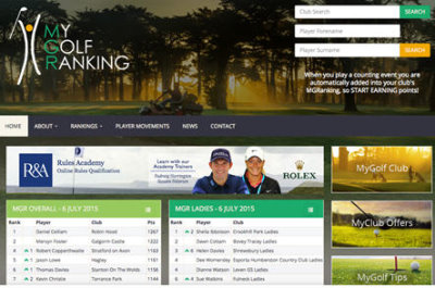 MyGolfRanking website