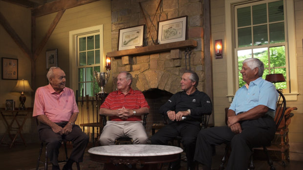 Golfing legends Arnold Palmer, Jack Nicklaus, Gary Player and Lee Trevino