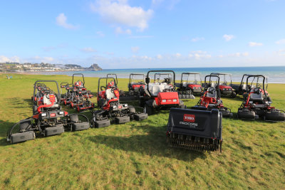 Royal Jersey Golf Club's new fleet of Toro turfcare equipment