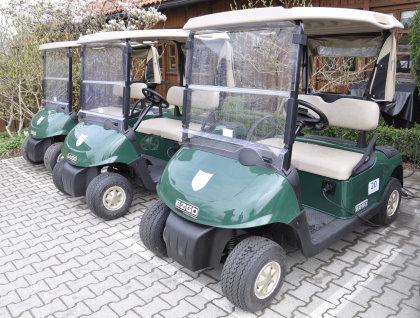 Part of the RXV golf car fleet