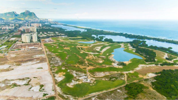 Rio Olympics Golf Course  from the air (photo credit IGF)