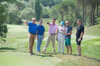 Ryder Cup Europe's evaluation team meet with the Spanish bid team to inspect PGA Catalunya Resort's Stadium Course