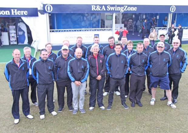 The PGA coaching team at the R&A Swing Zone (courtesy of Adrian Milledge)