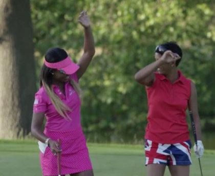 Still from This Girl Golfs video