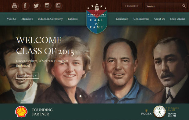 World Golf Hall of Fame Class of 2015