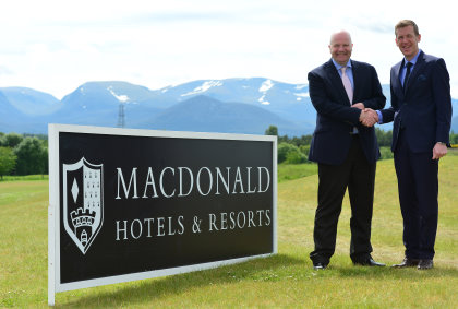 Brian Mair, Commercial Manager at Scottish Golf Union and Keith Pickard, Group Director of Golf at Macdonald Hotels & Resorts