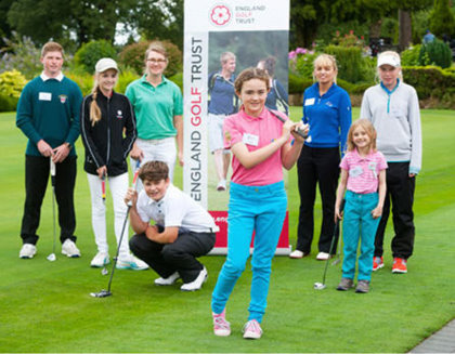 Young golfers at the launch of the England Golf Trust (© Leaderboard Photography)