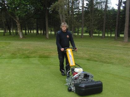 Frank Christ, Assistant Greenkeeper at Grand Ducal using the ATT INFiNiSystem
