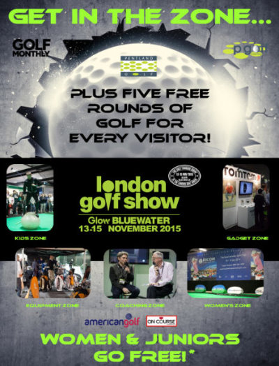 London Golf Show advertising