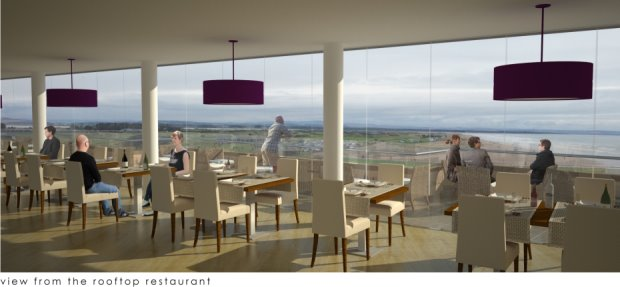 View from proposed rooftop restaurant