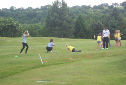 Chipping at Padeswood and Buckley Golf Club