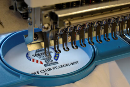Finishing touches to the Solheim Cup 2015 garments are added by SymaPrint