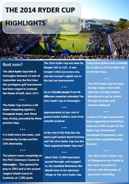Ryder Cup report Highlights