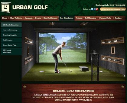 Urban Golf web page