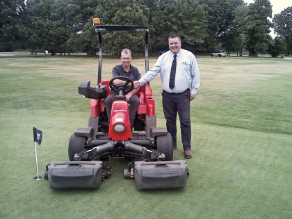 Berkhamsted Course Manager Gerald Bruce with Ernest Doe's Mark House