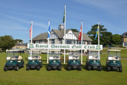 Club Car installs a new fleet of vehicles at Royal Dornoch