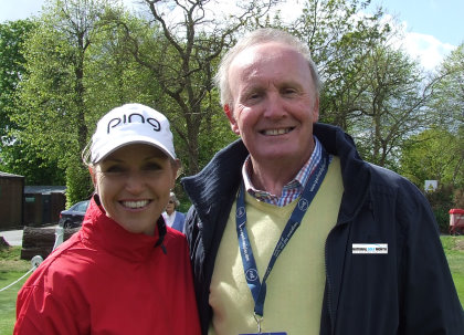 Doug Poole promotes National Golf Month with Carin Koch